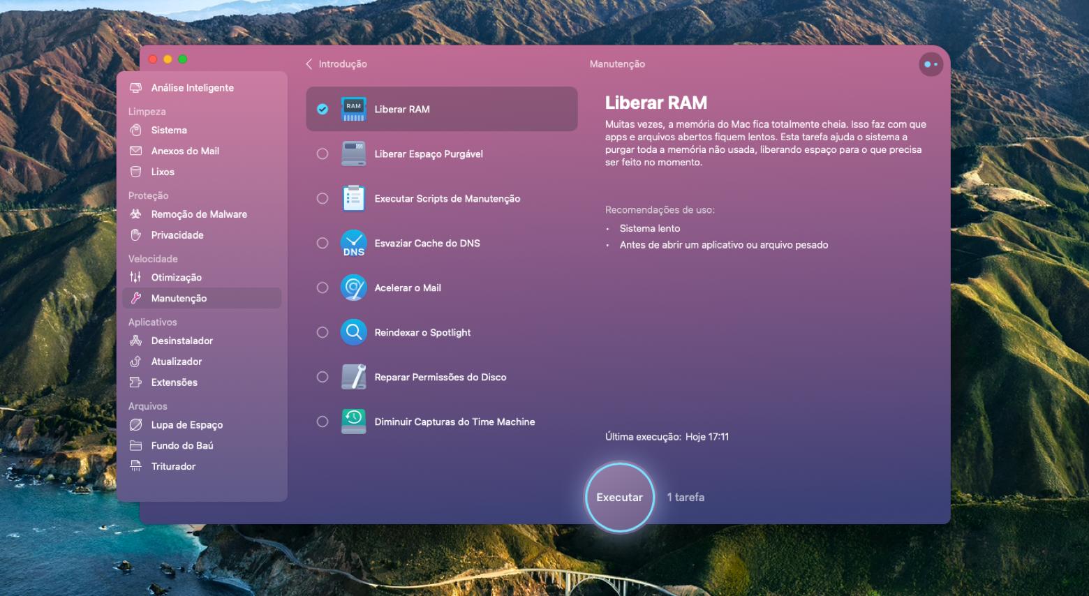 Libere a RAM com o CleanMyMac X