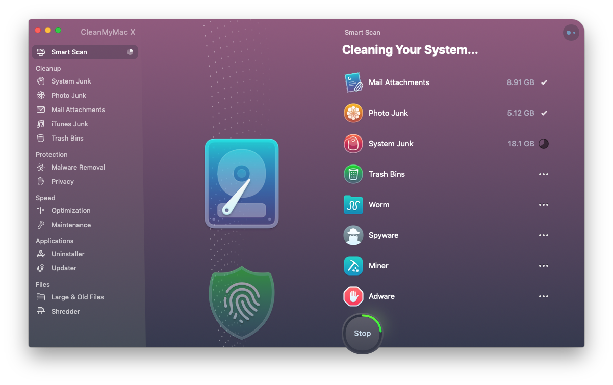 Clean up storage with CleanMyMac