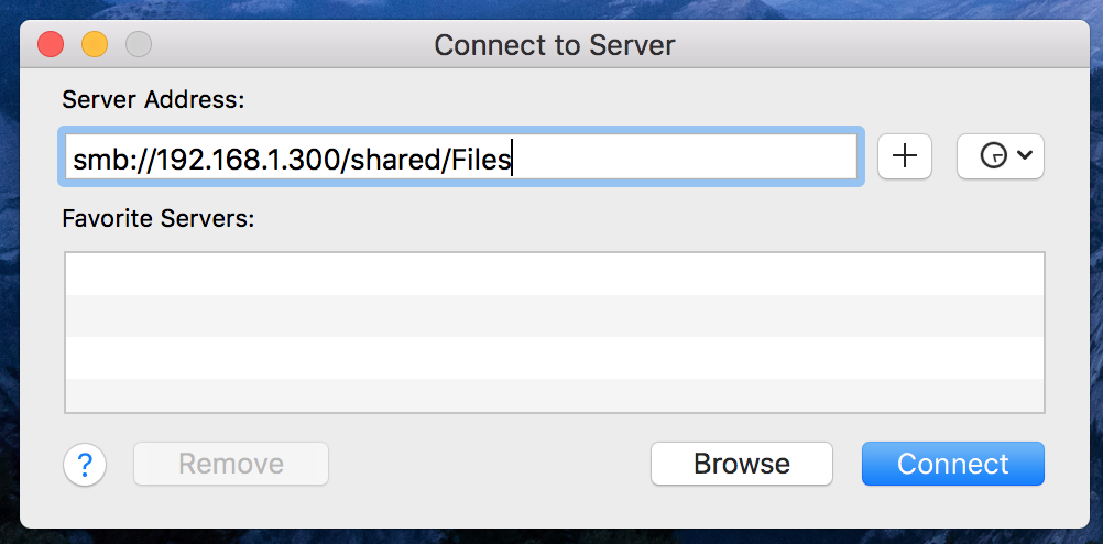Map network drive on macOS