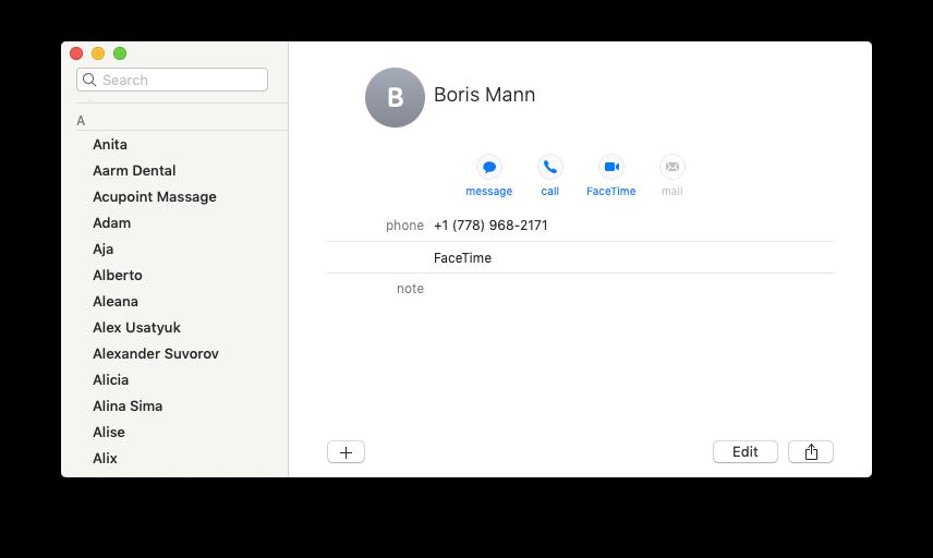 facetime call mac