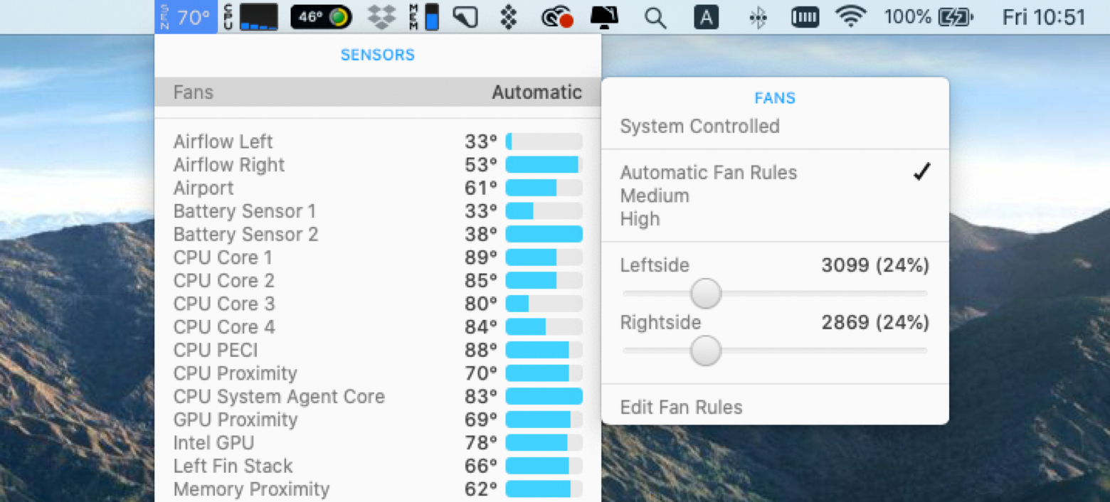 Control the speed of fans in your Mac