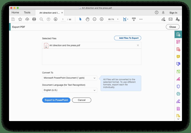 convert PDF PPT Adobe Acrobat Mac