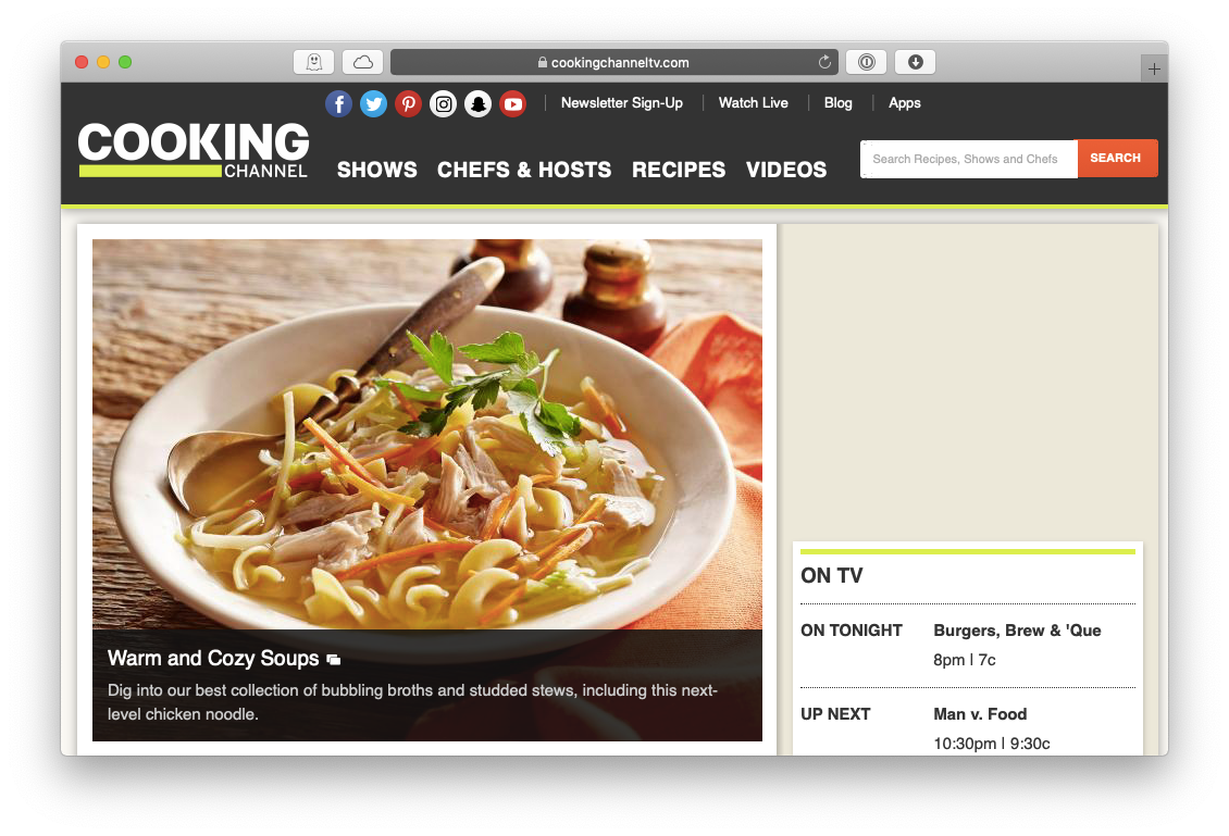 Cooking Channel Mac Apple TV