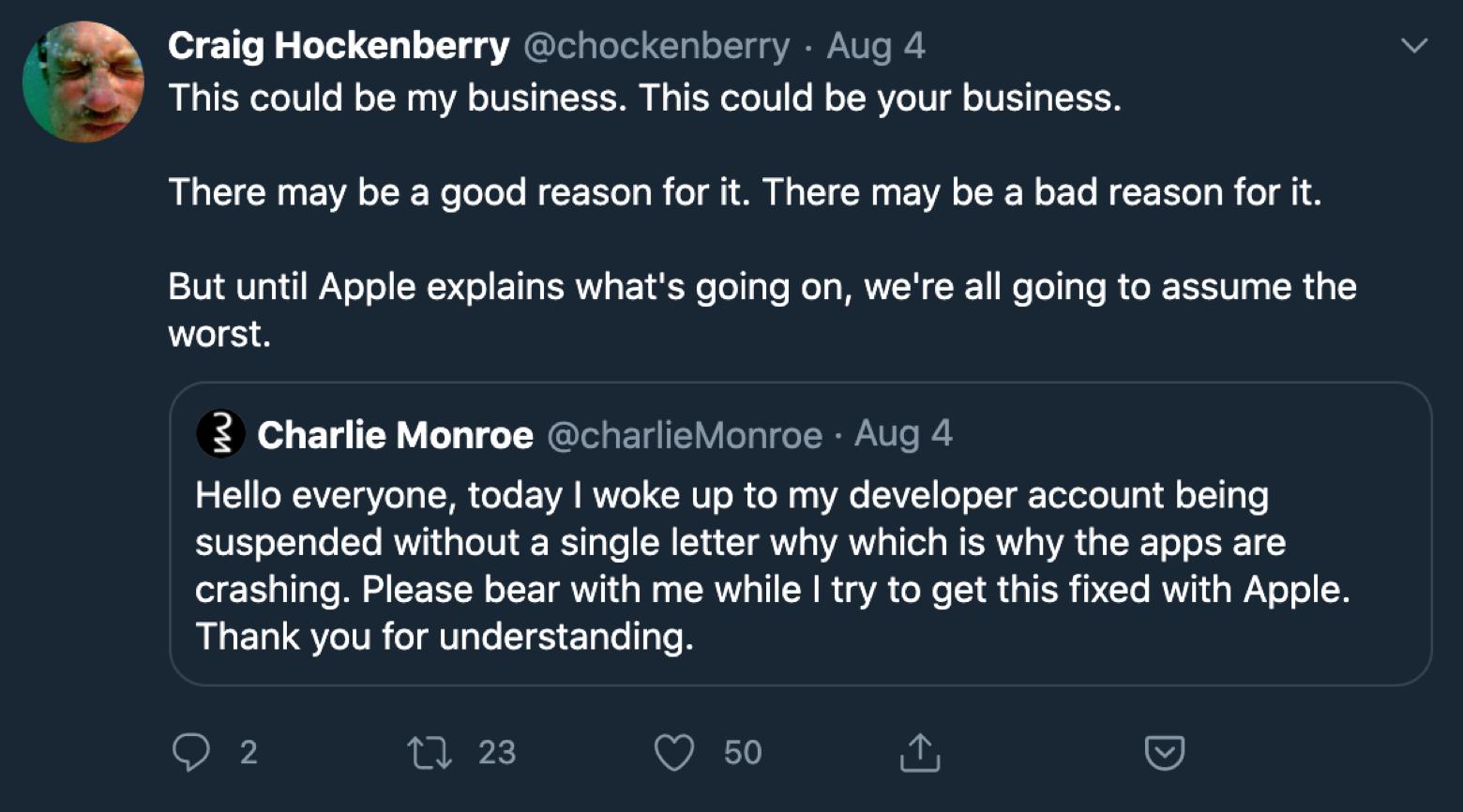 Craig Hockenberry Twitter