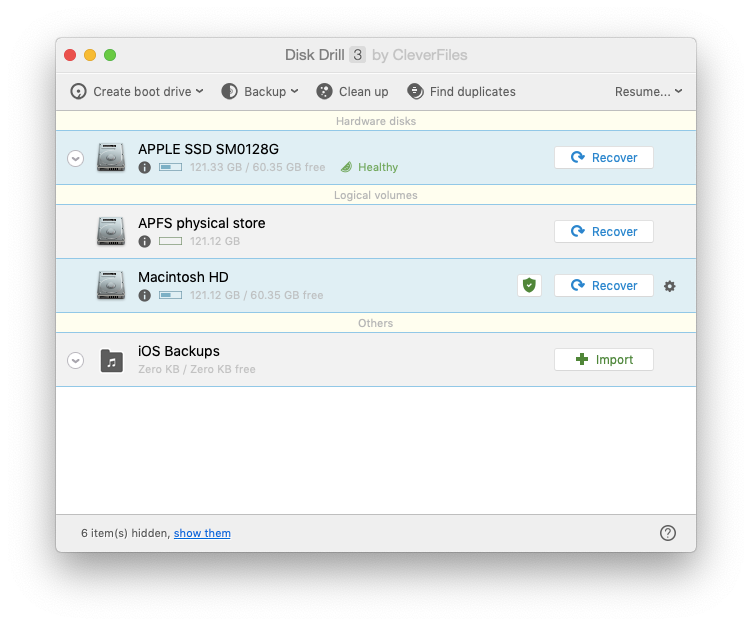 create backup Disk Drill