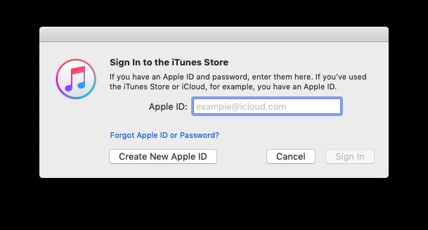 create new apple id itunes
