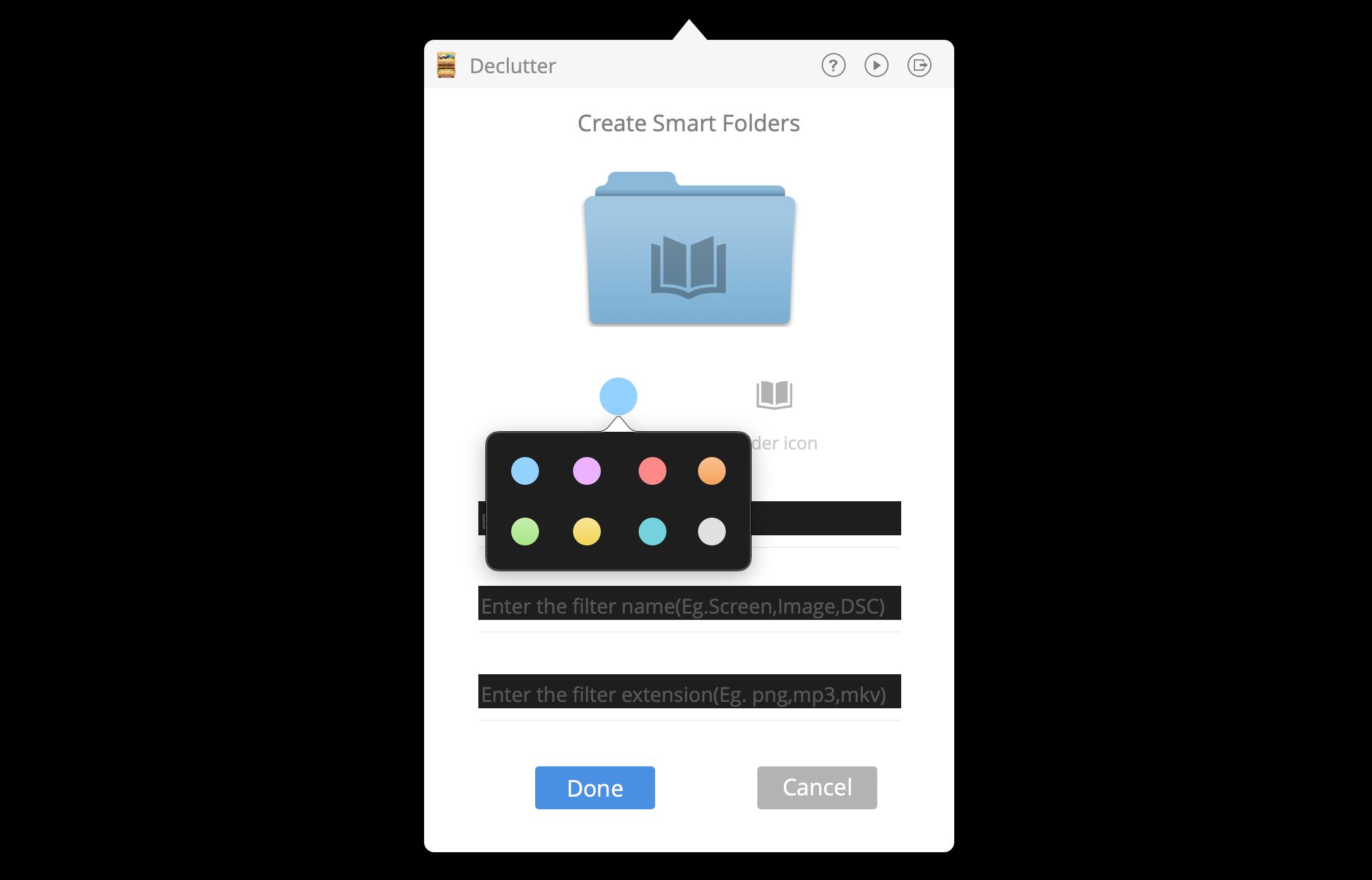 change folder color mac