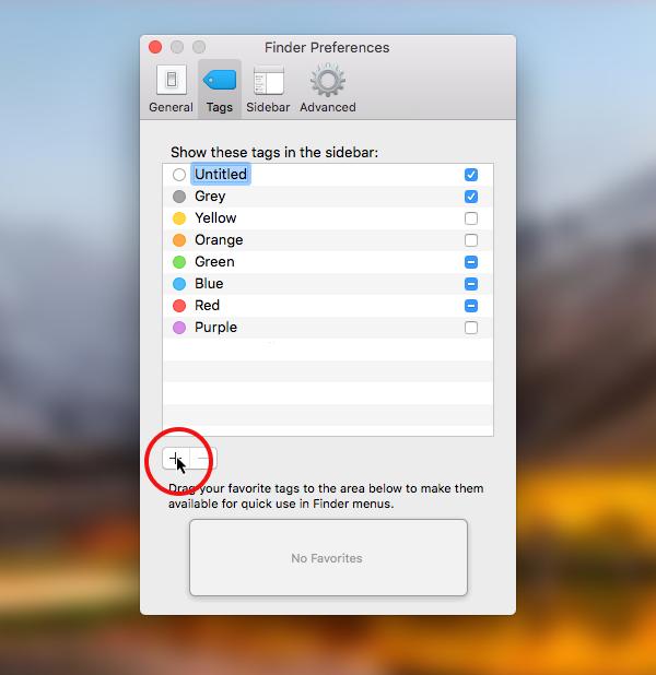 edit tags in macOS