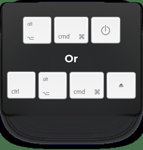 option-cmd-power or ctrl-option-cmd-eject