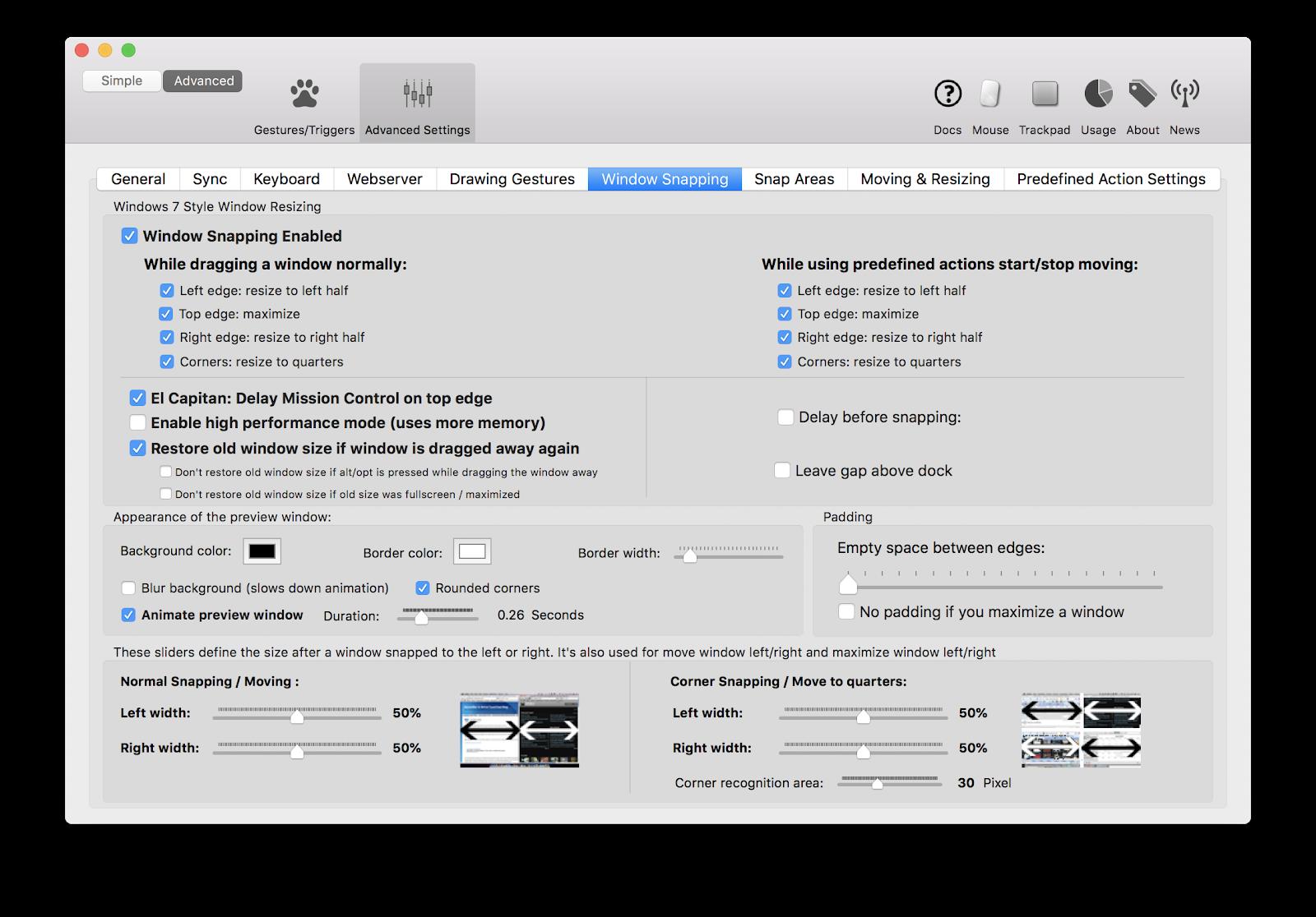 Arrange app windows mac