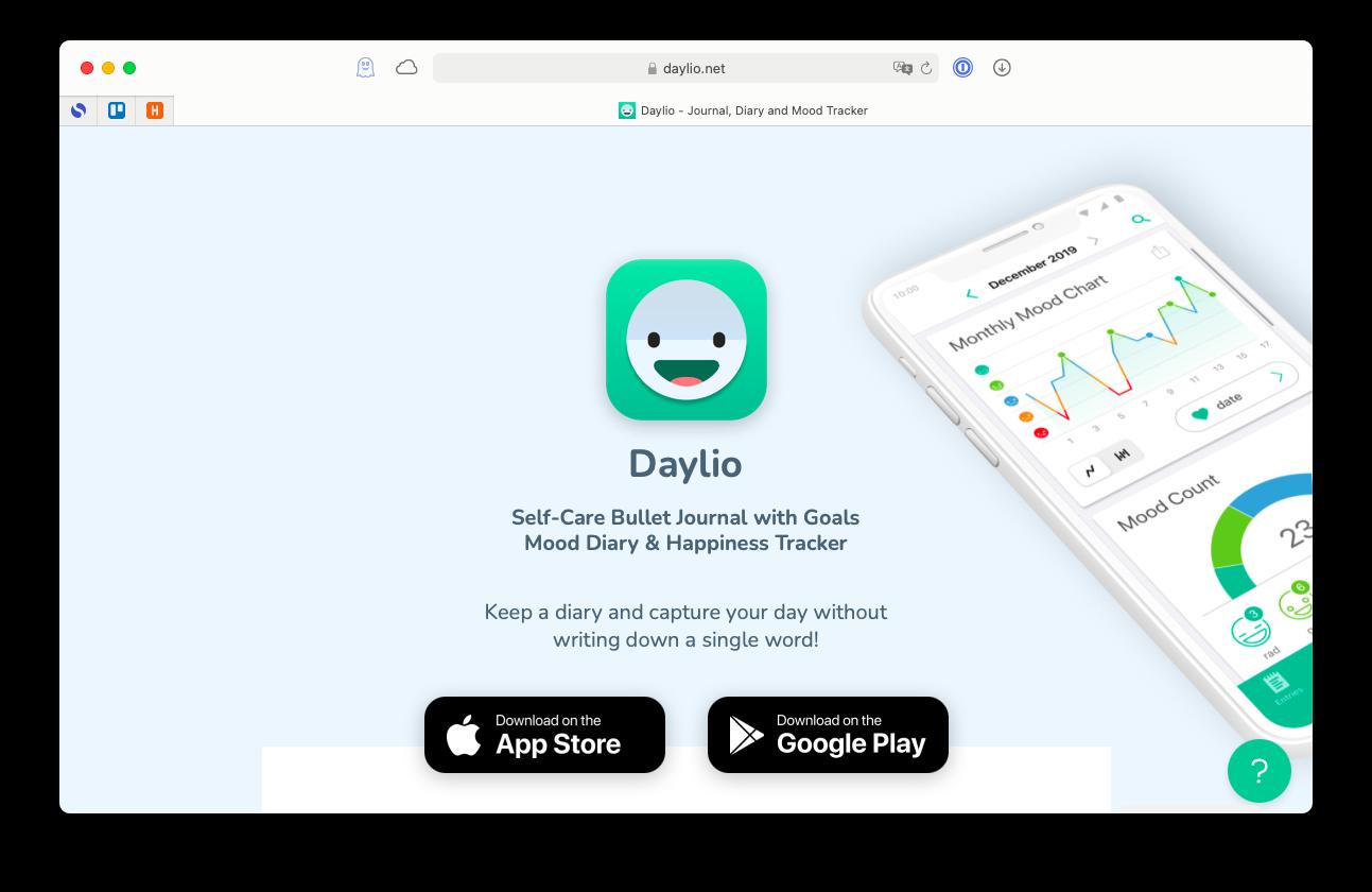 Daylio, an award-winning iOS moodtracker