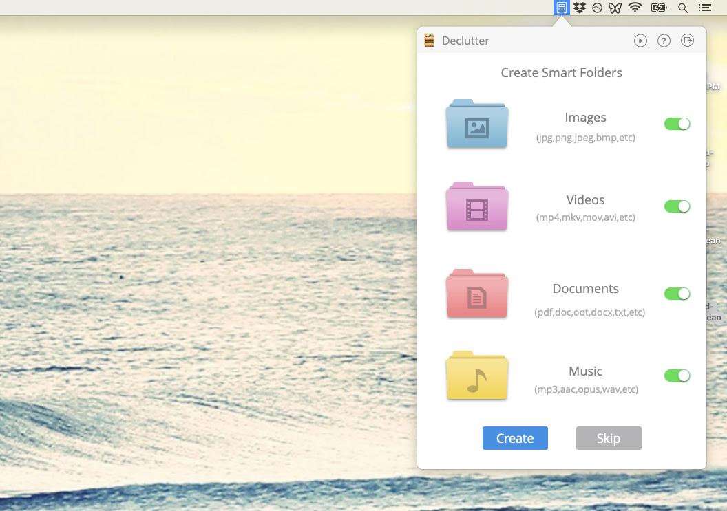 Declutter clean desktop