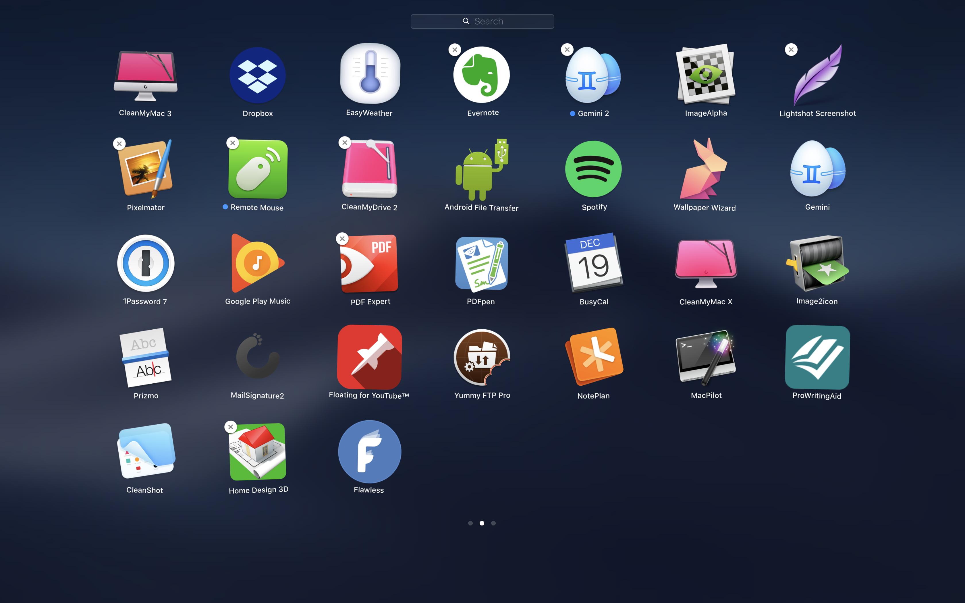 Apps mithilfe von Launchpad löschen