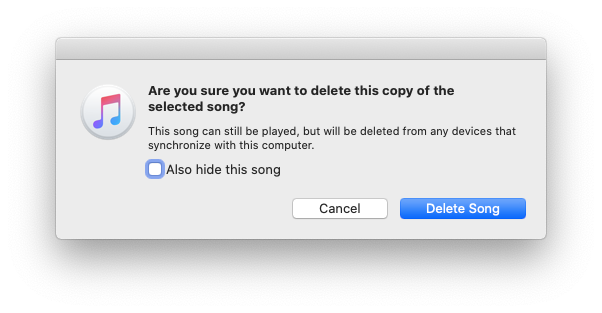 delete duplicate song iTunes Mac Music
