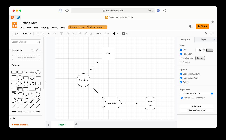 diagrams.net web app