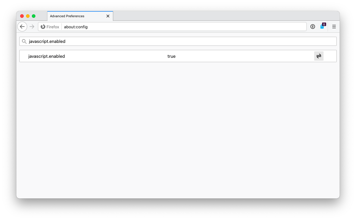 Disable JavaScript in Firefox