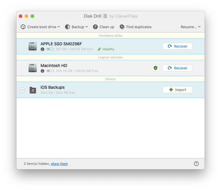 disk drill backup recovery mac