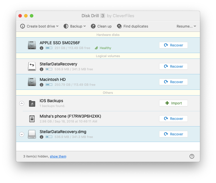 Disk Drill best Mac secure data recovery