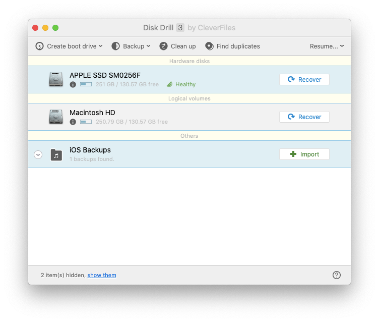 Disk Drill Mac recovery software