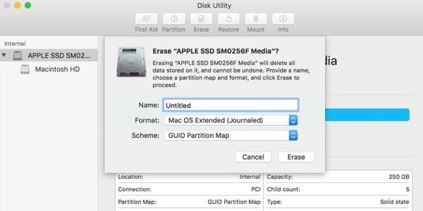 Erase Startup disk