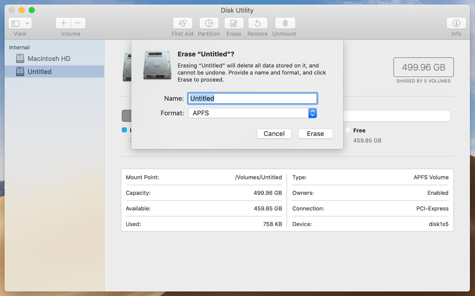 format an SD card with Disk Utility