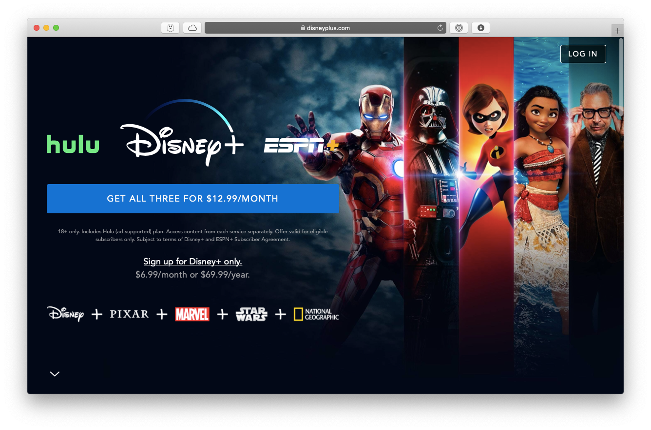 Disney Plus streaming service Mac
