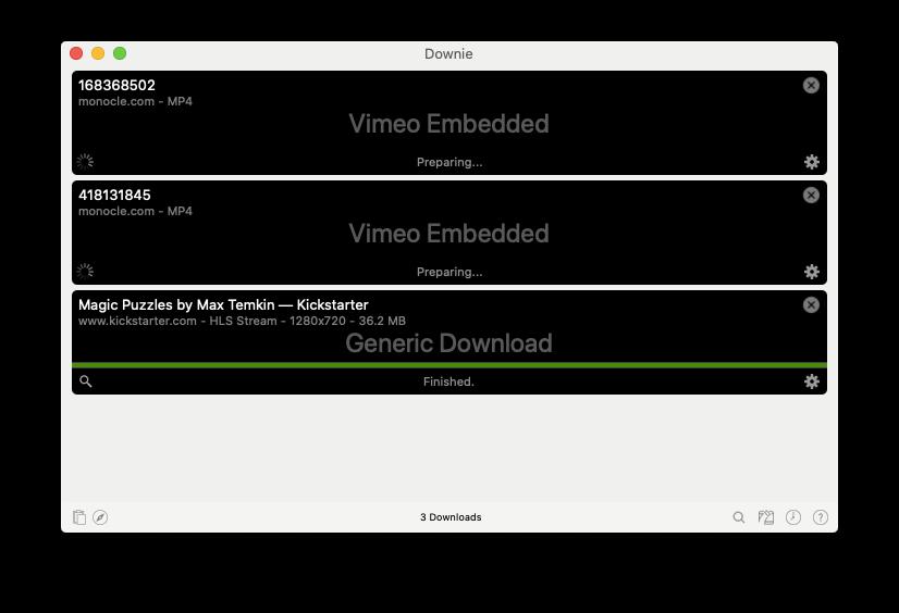Downie download media Mac app