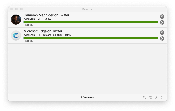 Downie download videos Twitter Mac