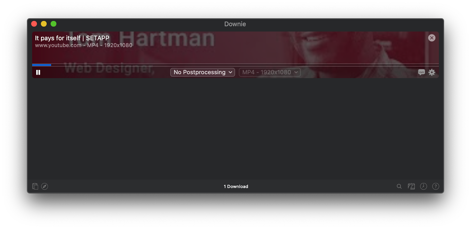 Downie downloader app Mac