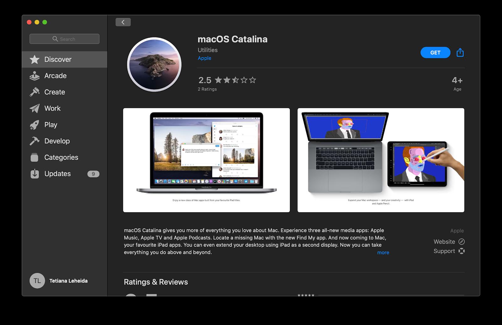 download macOS Catalina App Store