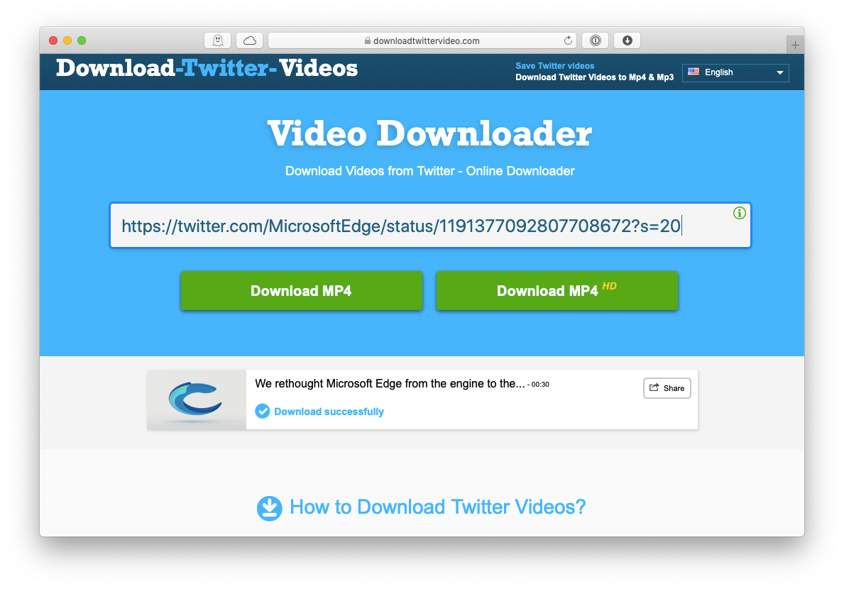 downloadtwittervideo website download video twitter