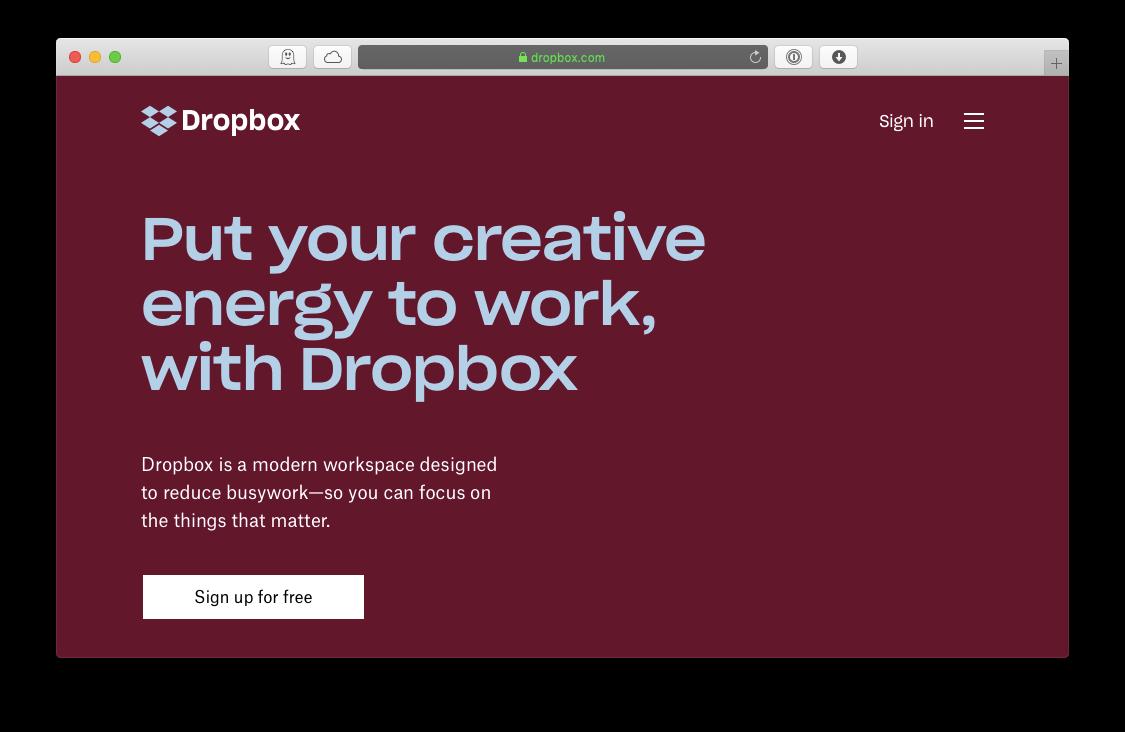 dropbox cloud solution for mac