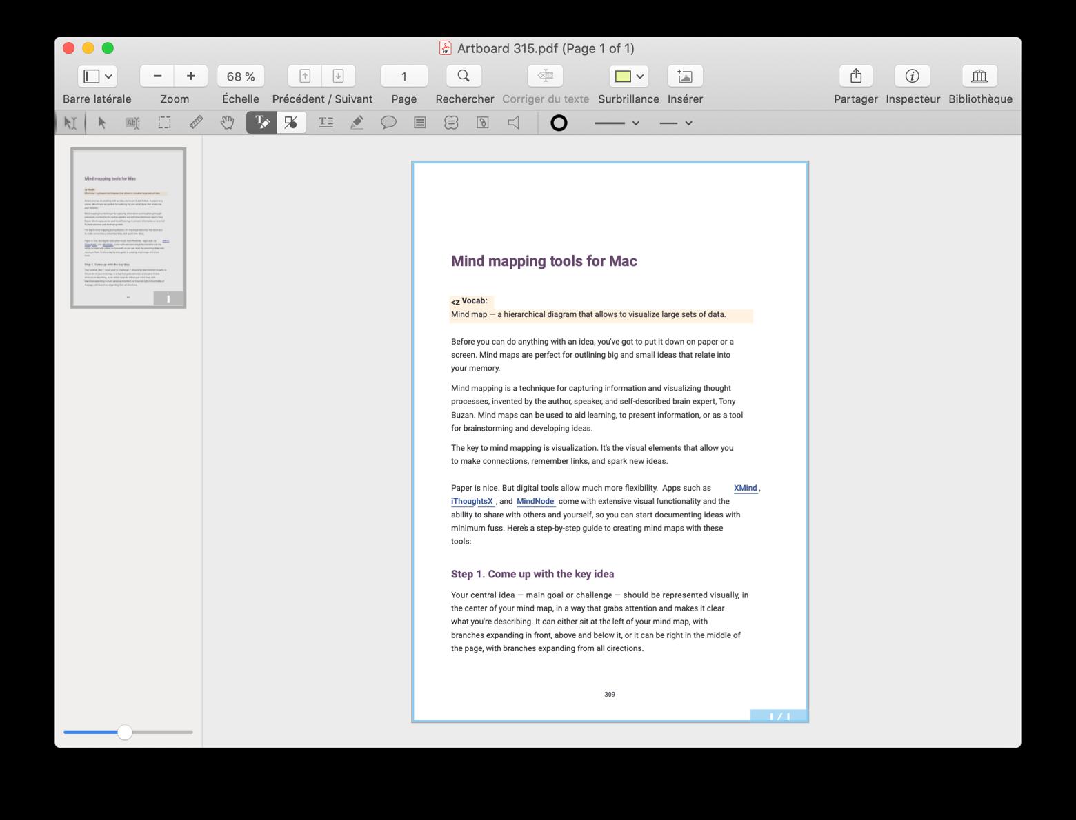 Ouvrir et éditer un fichier PDF dans PDFpen