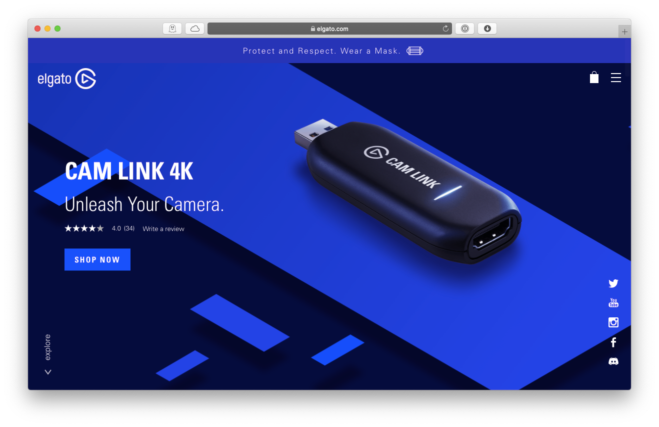 Elgato Cam Link HDMI USB