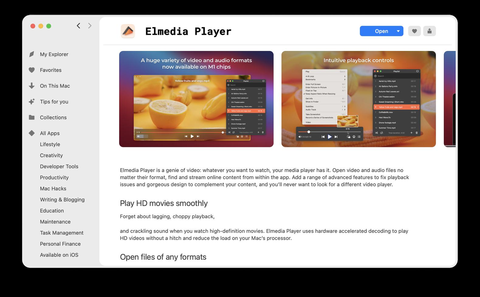 Elmedia Player on Setapp