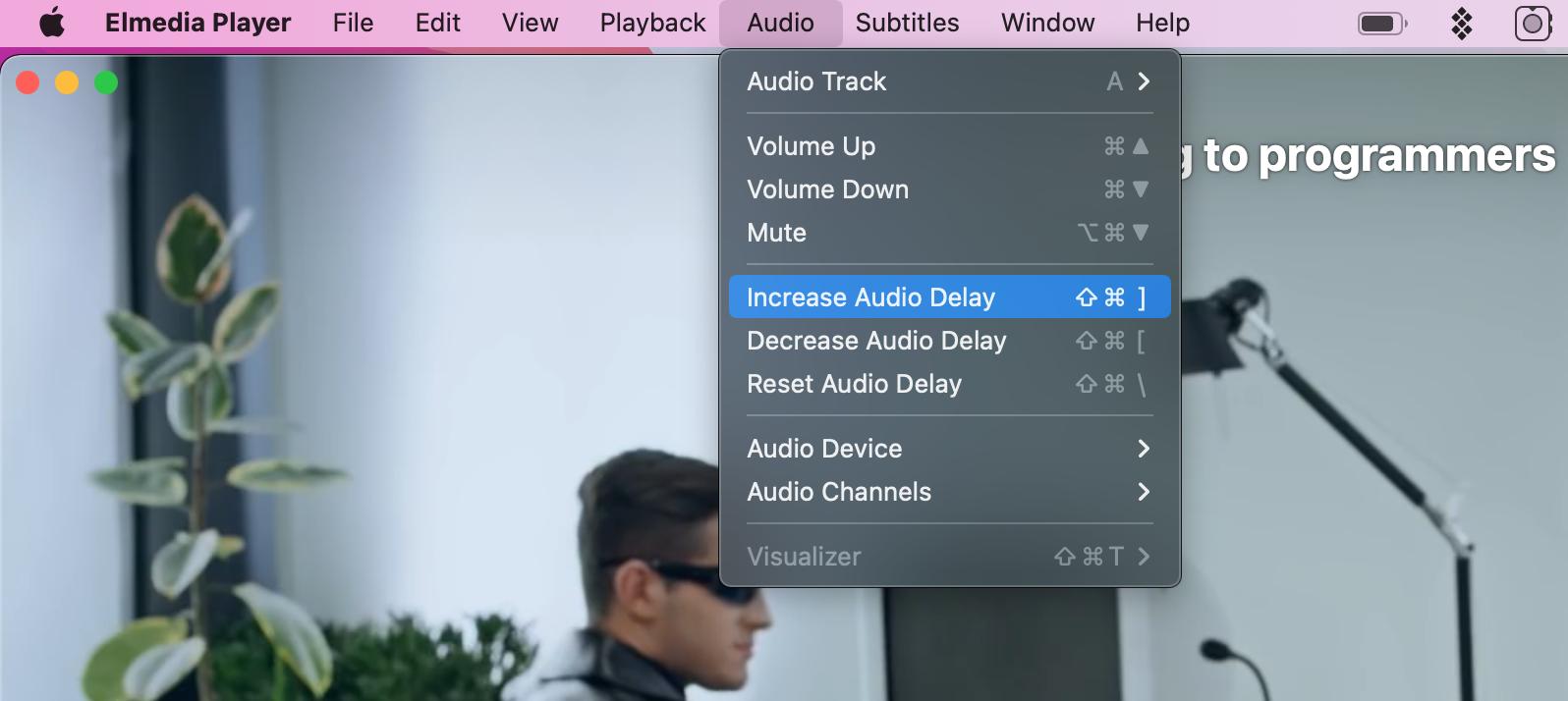 increase audio delay