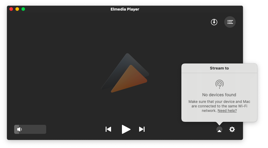 Elmedia DLNA server and player