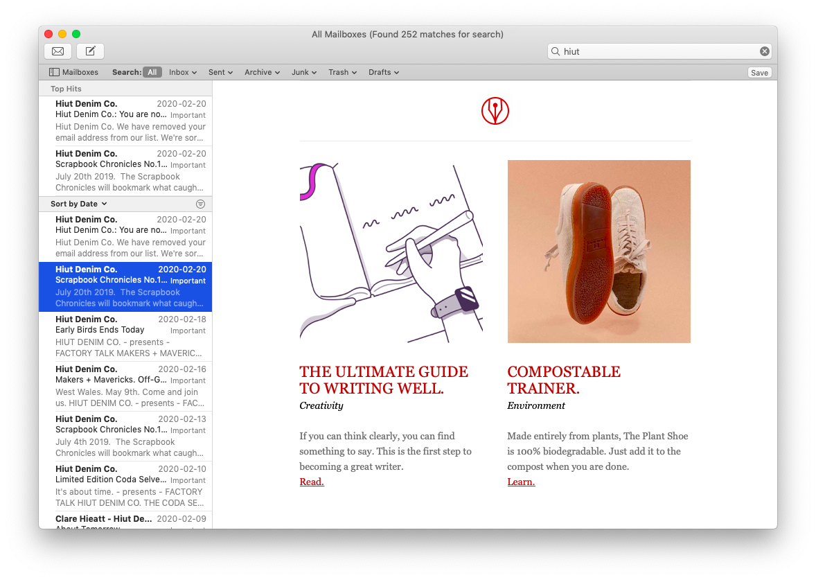 email Apple Mac mail app