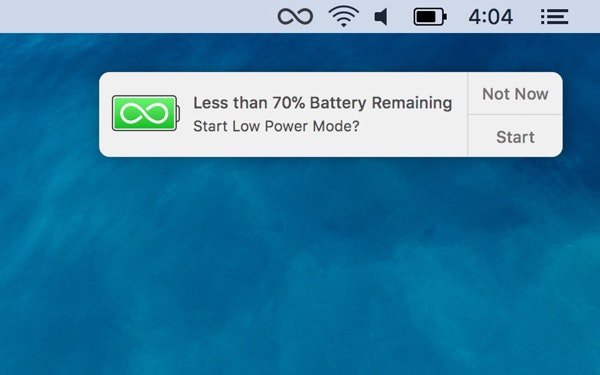 Save battery power with endurance