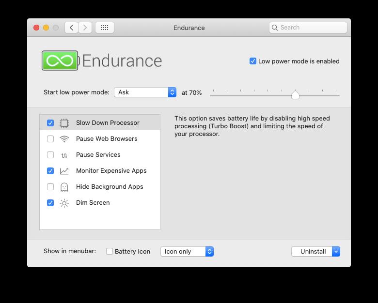 endurance battery extend mac life