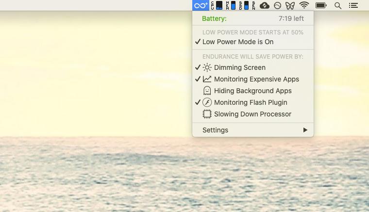 Endurance battery prolong Mac control