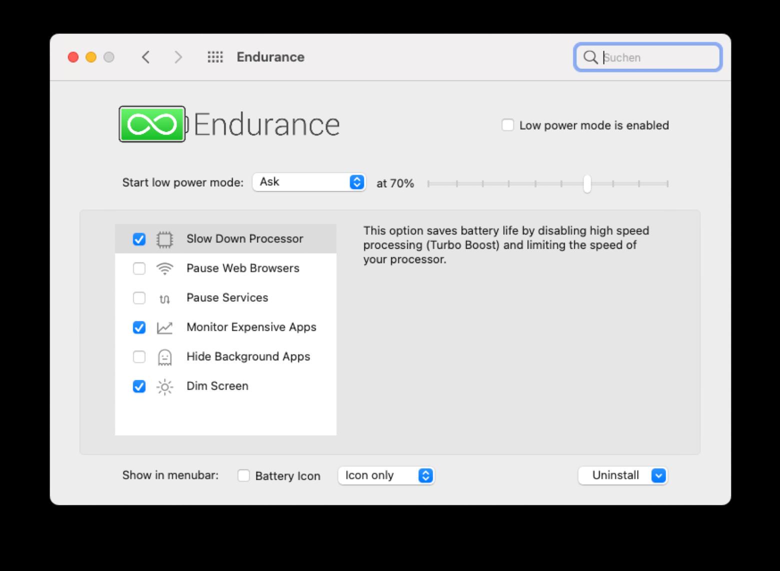 Endurance Mac battery extender