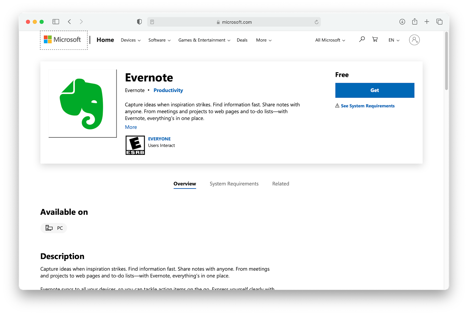 evernote-download-microsoft-store