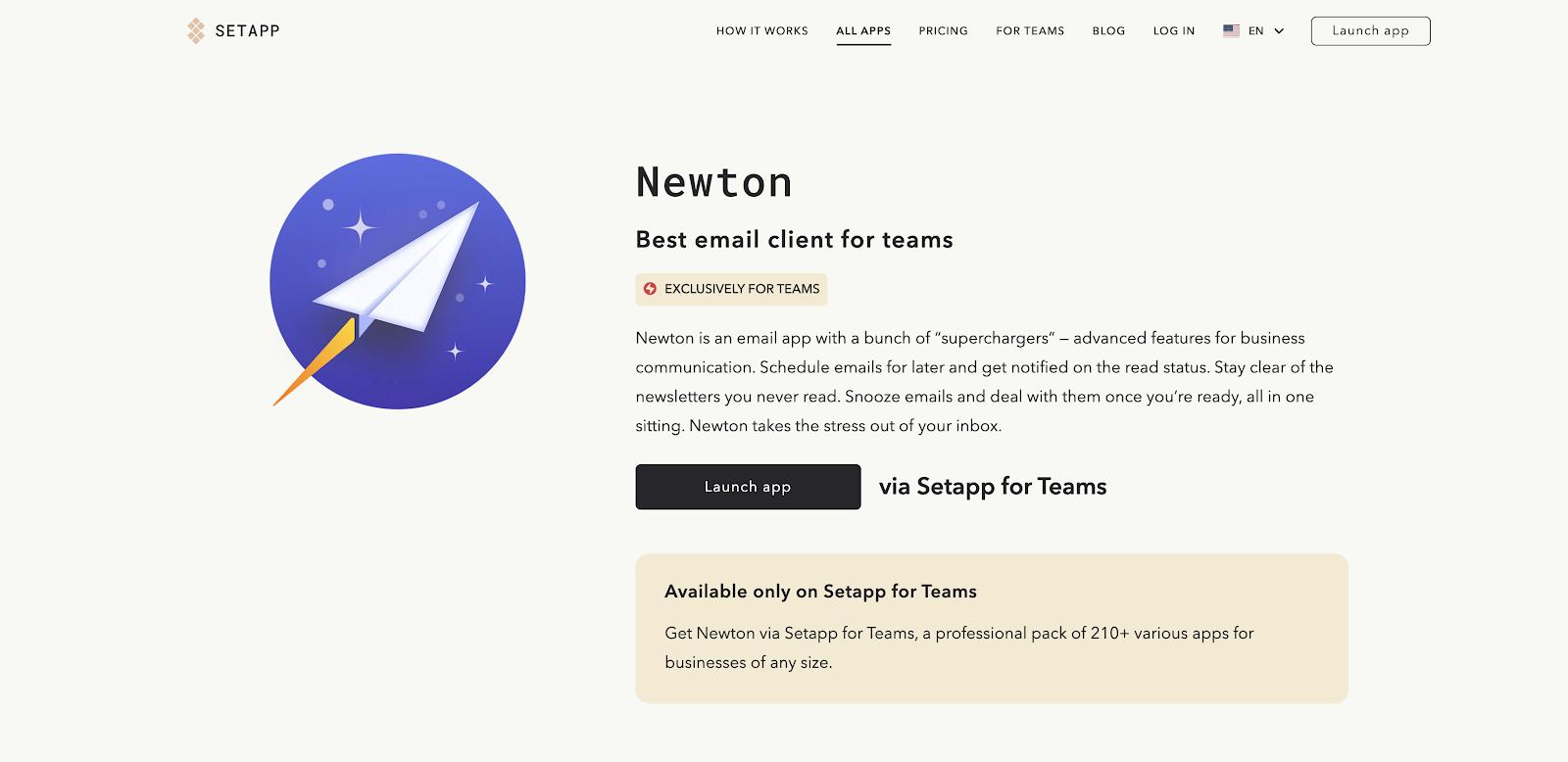 Exclusive apps Setapp for Teams