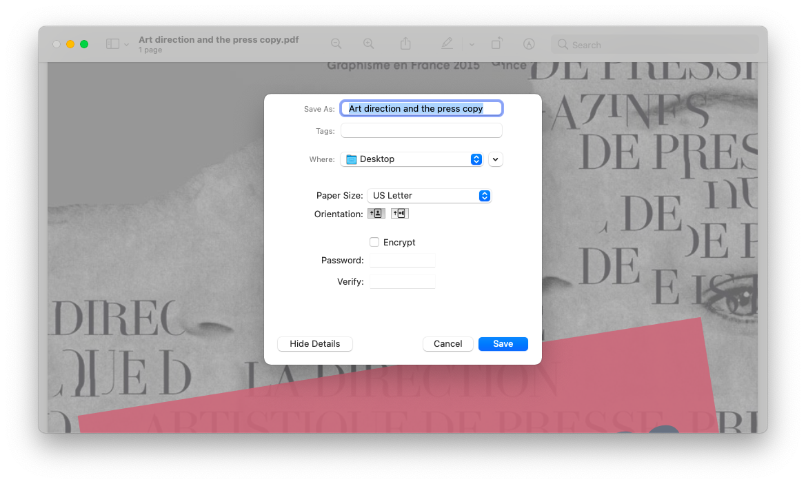 remove password protection from PDF with Preview