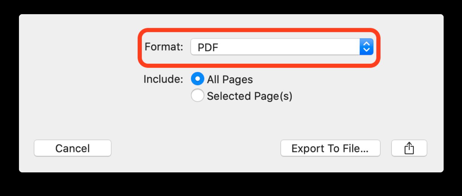 Enregistrer un fichier PDF