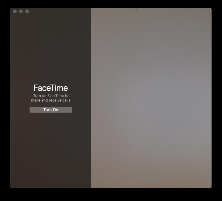 facetime mac interface
