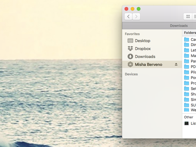 navigate files with Finder