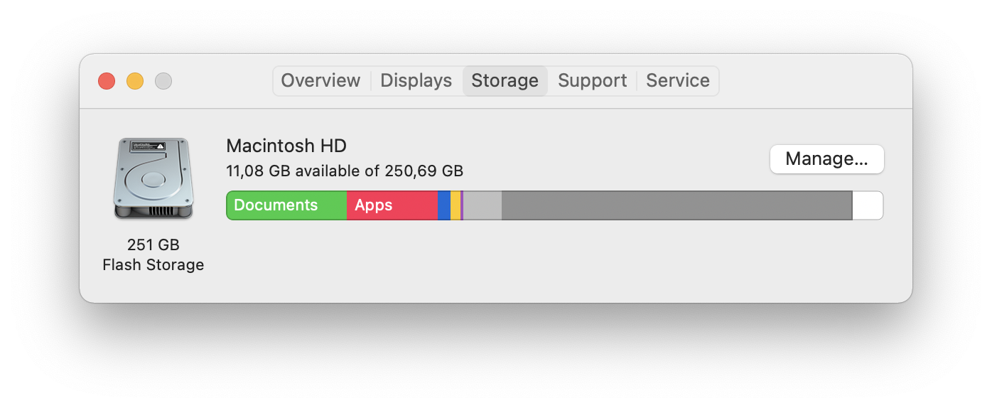 How to check disk space
