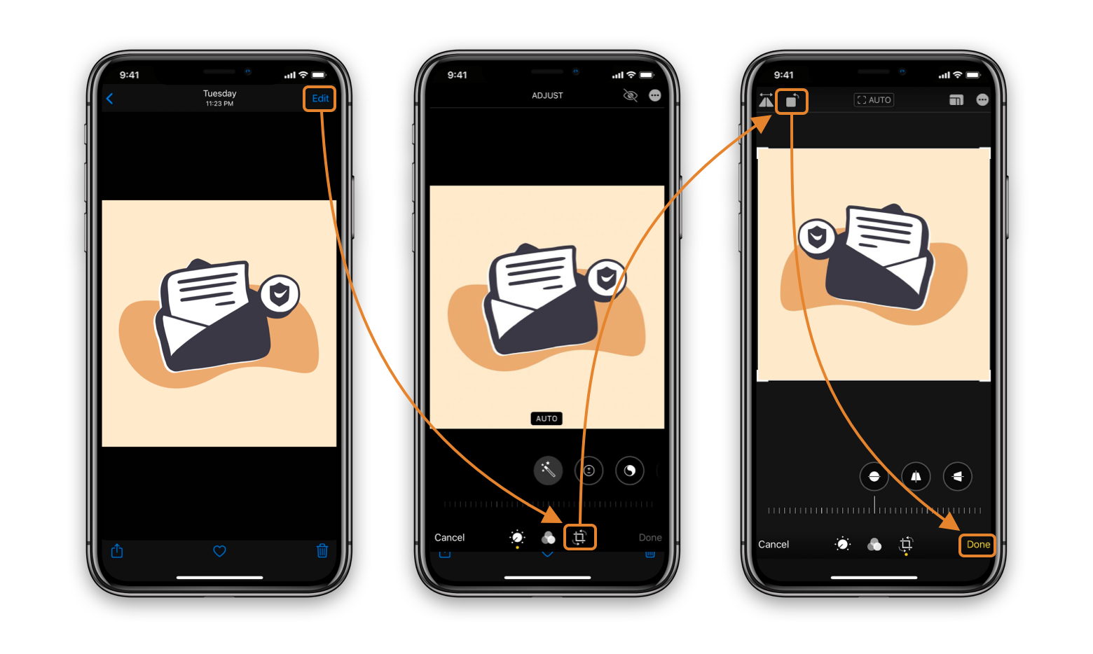 flip images iphone ipad
